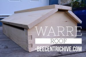 Beecentric hive, Warre hive style vented roof.