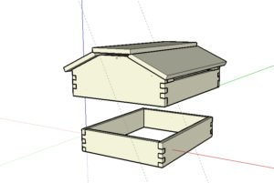 10 Frame Warre Top-Quilt and Roof